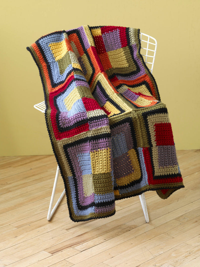 Patchwork Squares Throw (Crochet)