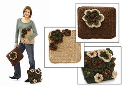 Pillow Trio with Flowers Pattern (Crochet)