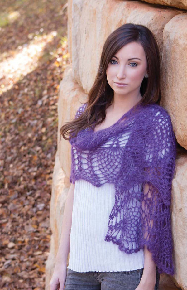 Purple Passion Crochet Wrap Pattern