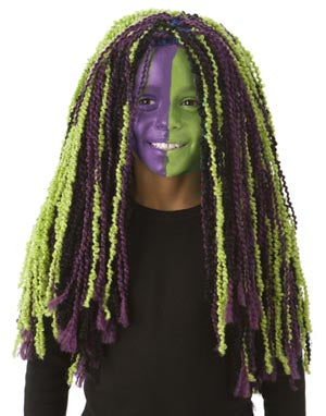 Purple and Green Monster Wig Pattern (Crochet)