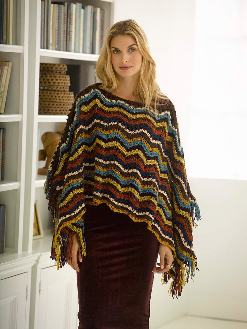 Radiant Ripple Poncho Pattern (Crochet)