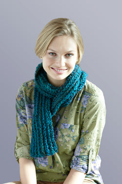 Ribbed Gift Scarf (Crochet)
