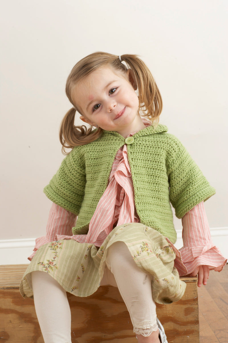 Short And Sweet Childs Cardigan Pattern (Crochet)