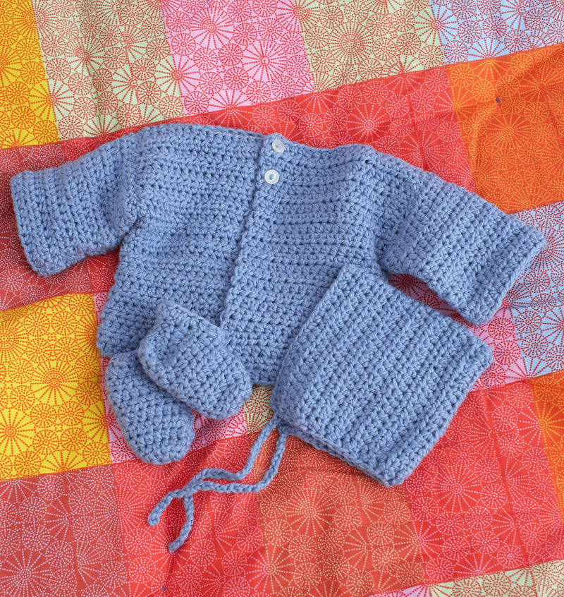 Simple Baby Set Pattern (Crochet)