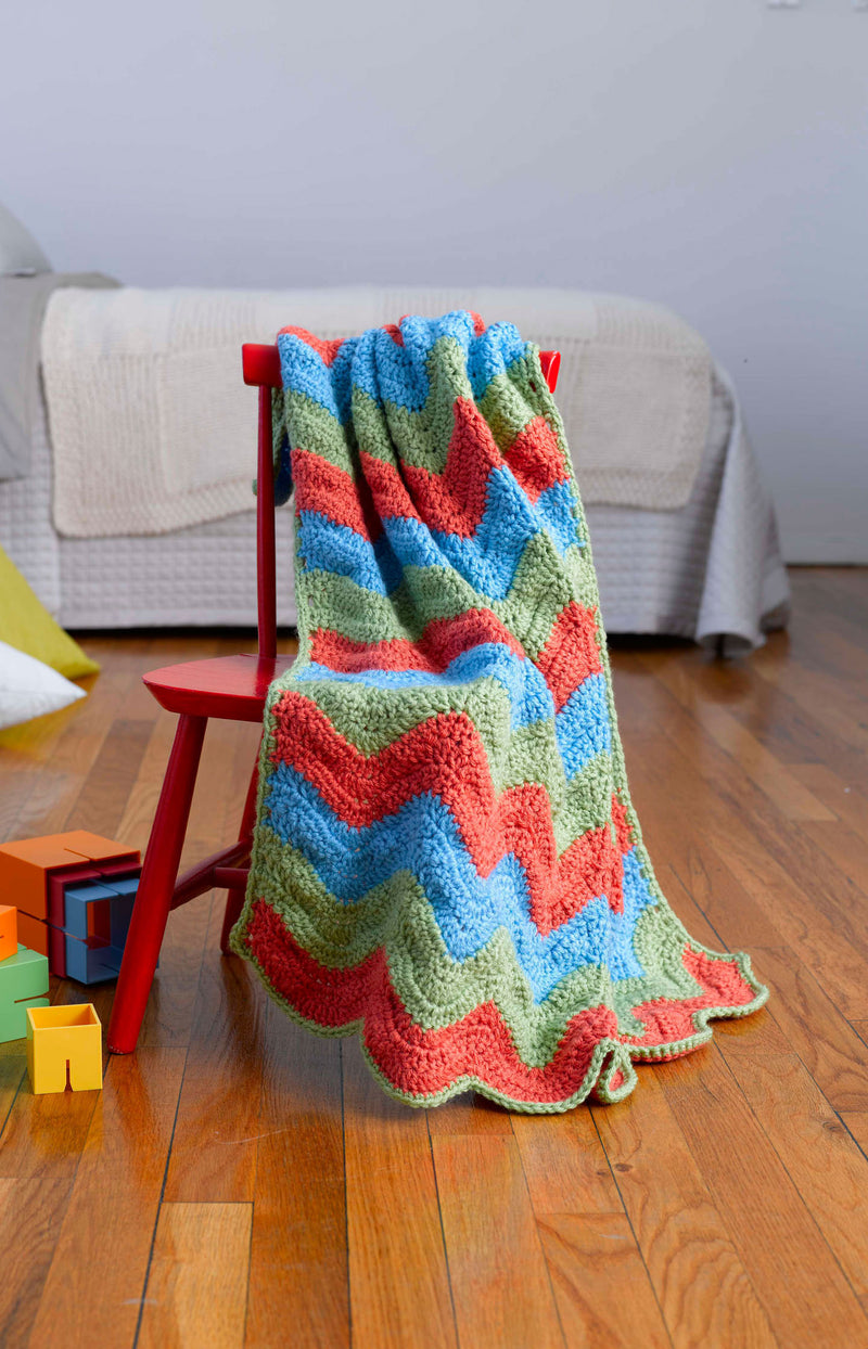 Simple Ripple Baby Afghan Pattern (Crochet)