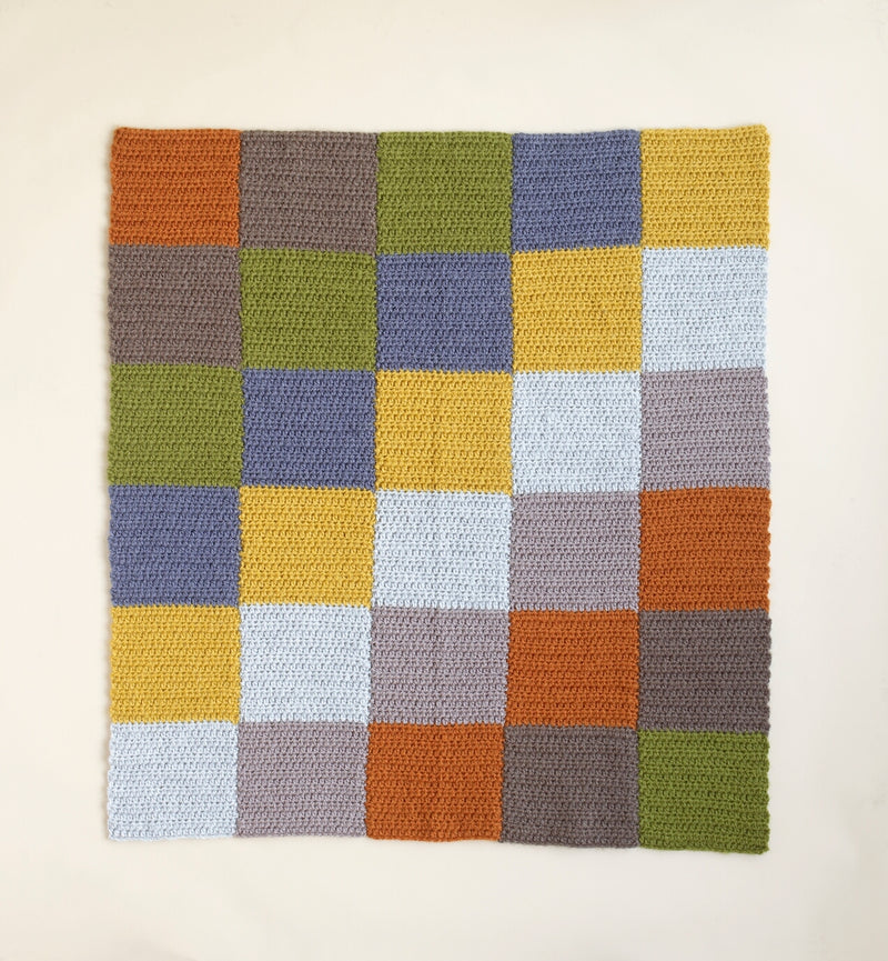 Simple Subtle Squares Afghan Pattern (Crochet)