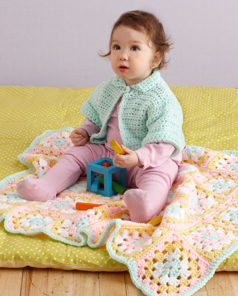 Snowball Stand Baby Set Pattern (Crochet)