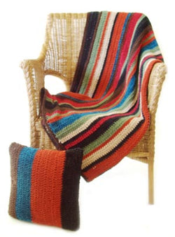 Striped Afghan (Crochet)