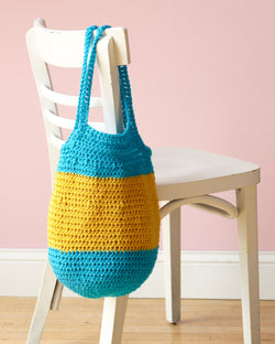 Striped Bubble Tote (Crochet)