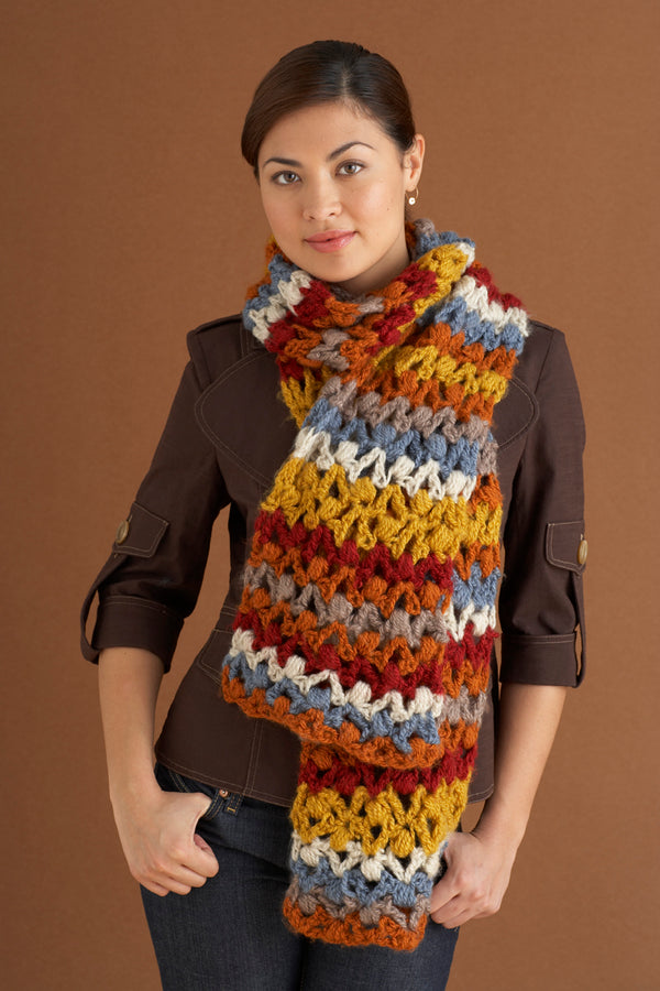 Striped Scarf Pattern (Crochet)