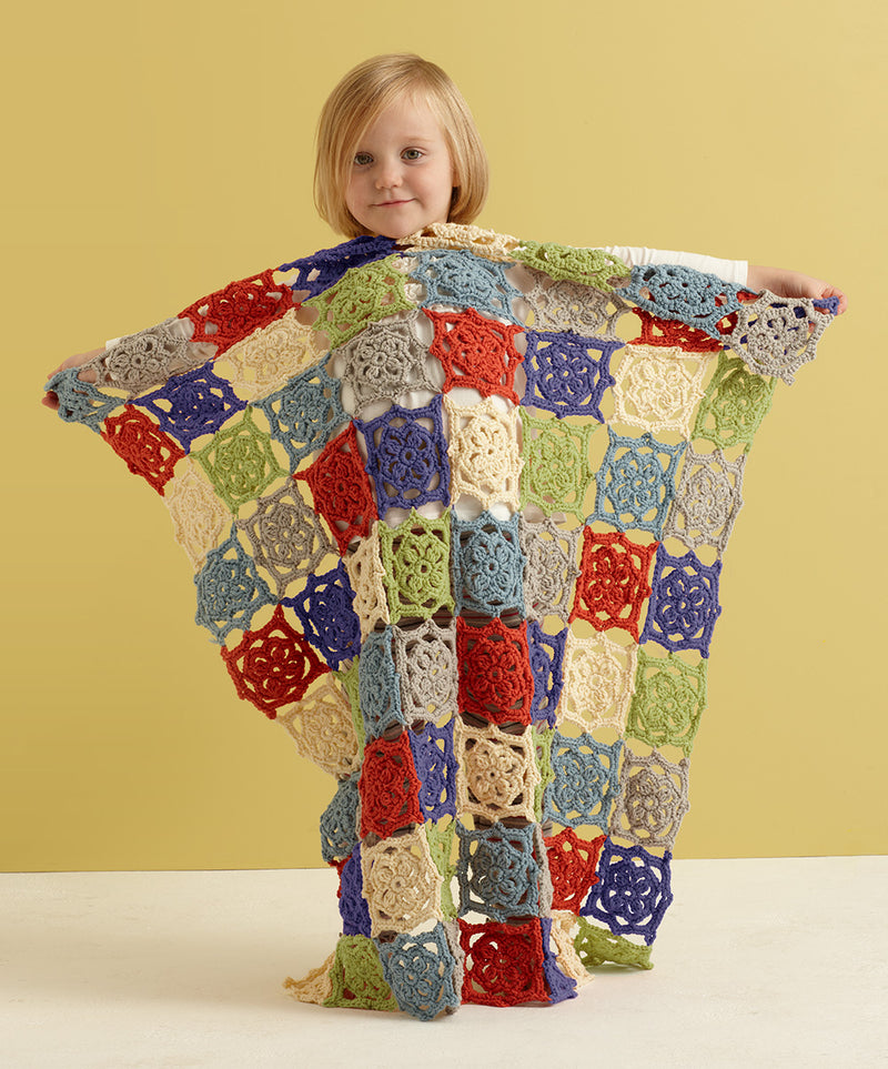 Summer Flower Baby Throw Pattern (Crochet)