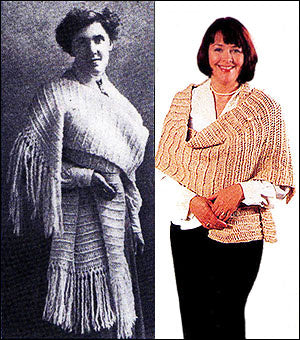Then and Now Crocheted Shawl Pattern