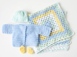 Toy Chest Baby Set Pattern (Crochet)