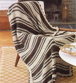 Two Color Afghan Pattern (Crochet)