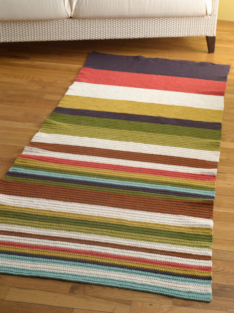 Whimsy Stripes Rug Pattern (Crochet)