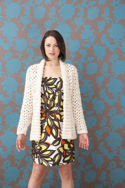 Whiter Shade Of Pale Car Coat Pattern (Crochet)