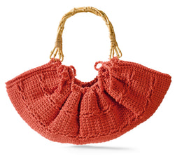 Wooden Handle Tote (Crochet)