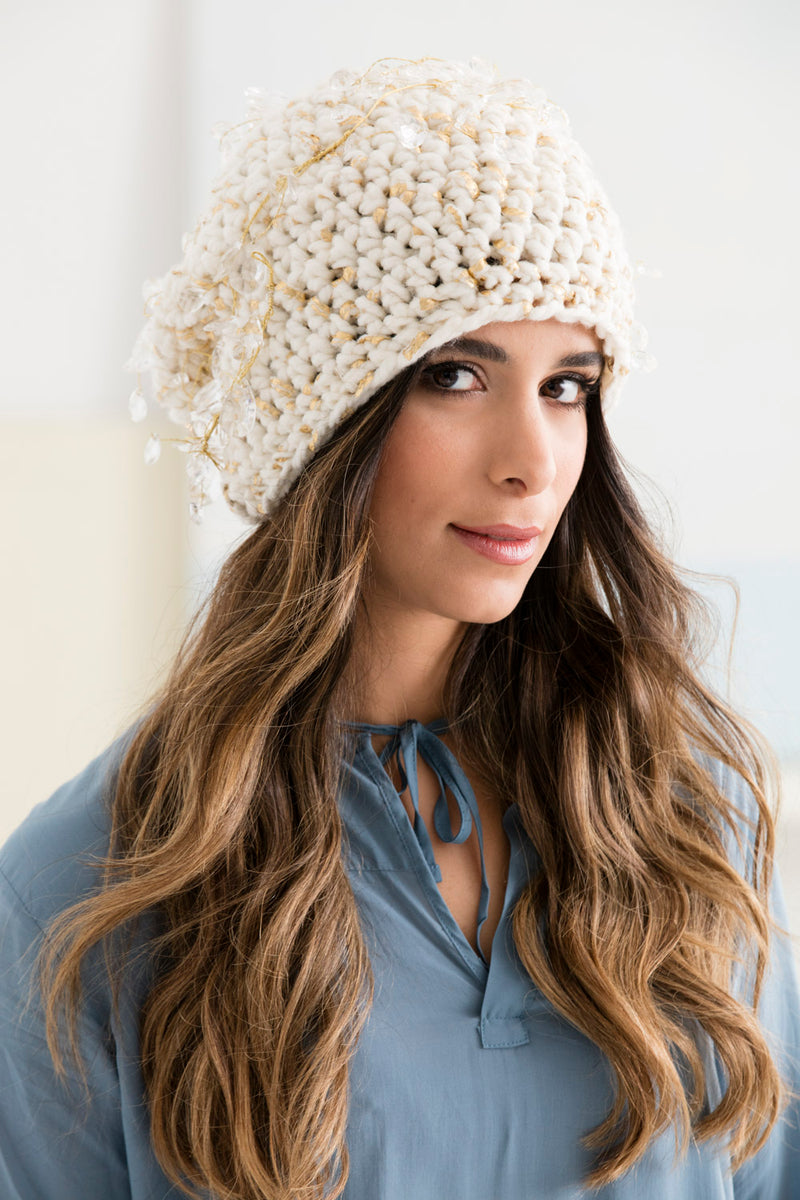 Sparkle Snow Bunny Hat (Crochet)