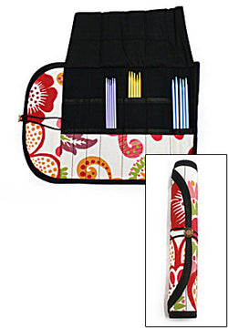Double-Pointed Needle Case: Crayon Floral