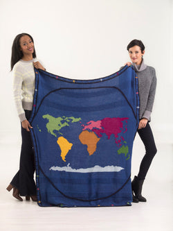 Around The World Afghan (Knit)