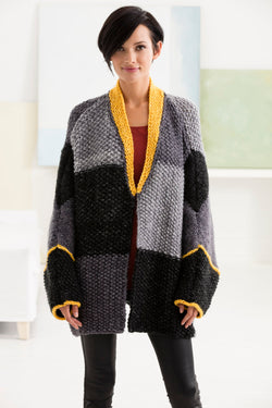Color Block Cardigan (Knit)