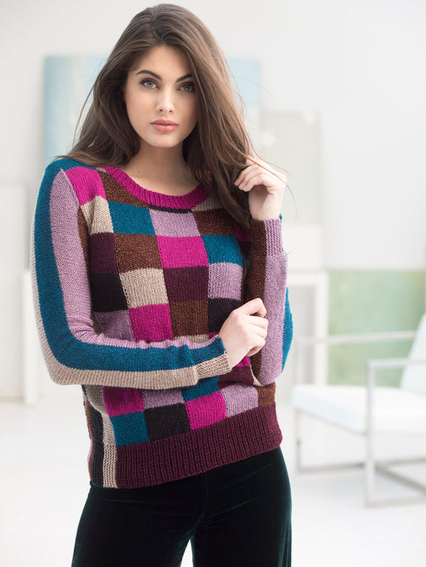 Color Grid Pullover (Knit)