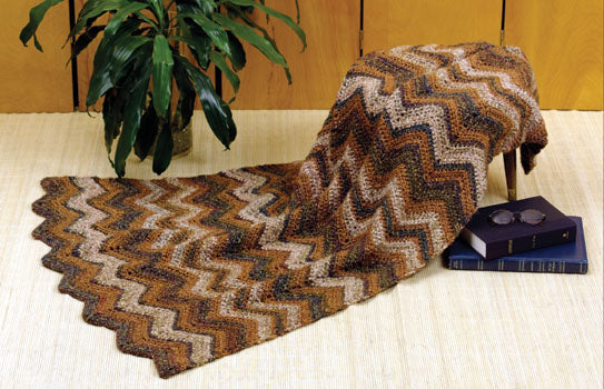 Knit & Crochet Autumn Ripple Afghan (Knit and Crochet)