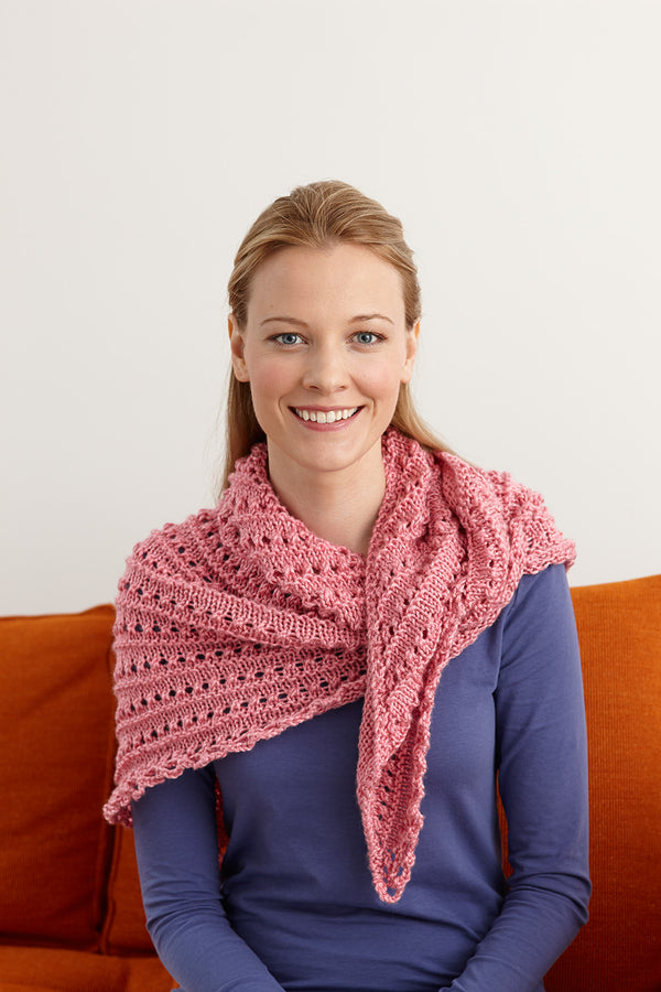 Splendid Elegance Triangle Shawl Pattern (Knit-Crochet)