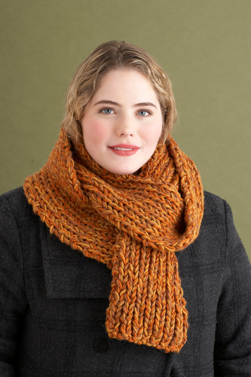 2 1 2 Hours or Less Rib Scarf Pattern (Knit)