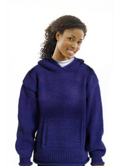 Adult Hooded Sweater Pattern (Knit)