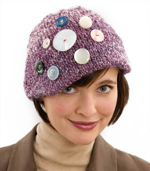 All Buttoned Up Decorated Cap Pattern (Knit)