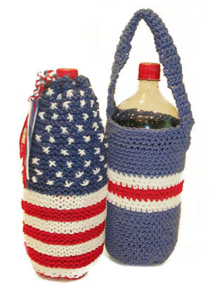 Americana Knitted Evaporative Beverage Cooler Pattern