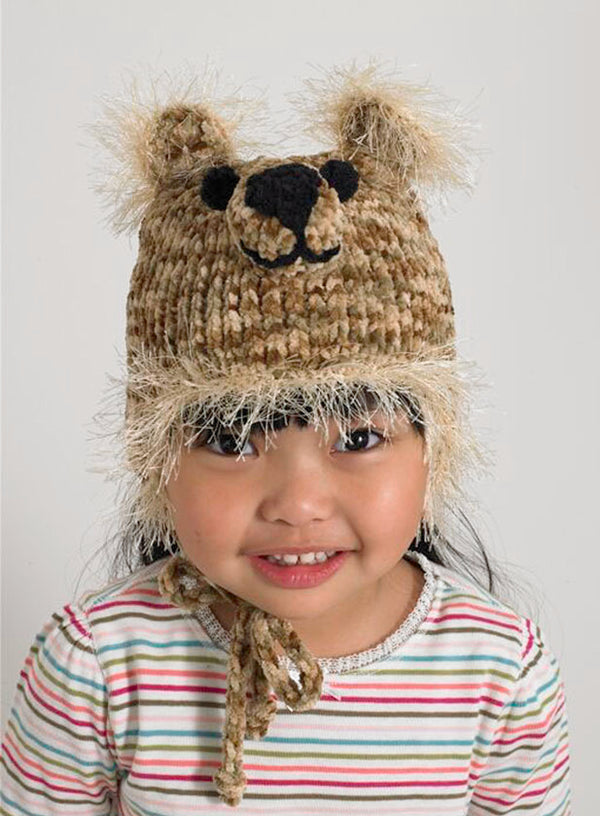 Baby Animal Big Bear Hat Pattern (Knit)