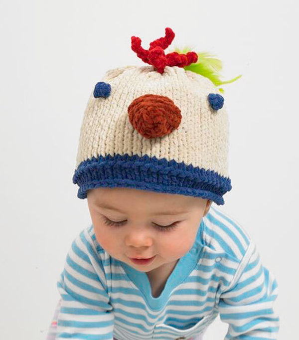 Baby Animal Chicken Little Hat Pattern (Knit)