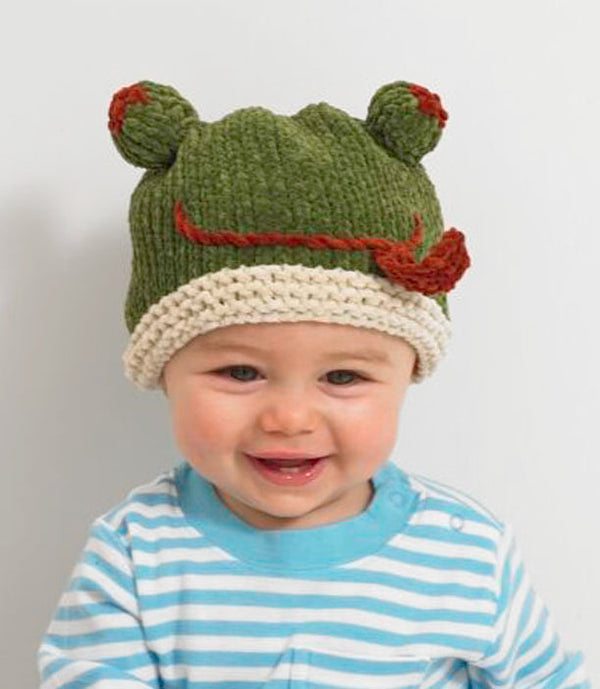 Baby Animal Froggy Hat Pattern (Knit)