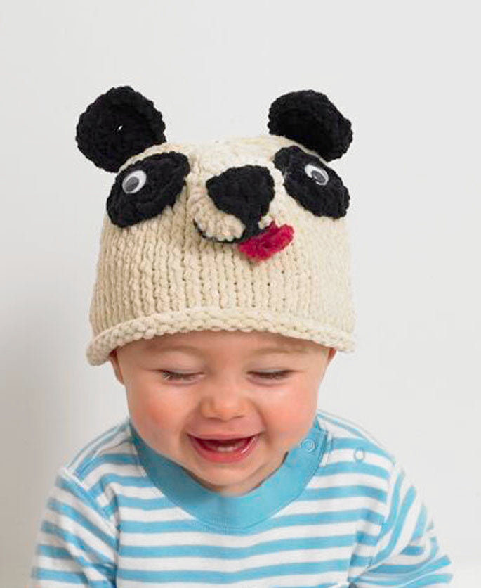 Baby Animal Panda Bear Hat Pattern (Knit)