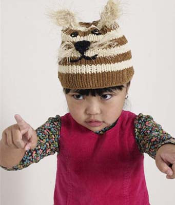 Baby Animal Tiger Kitty Hat Pattern (Knit)