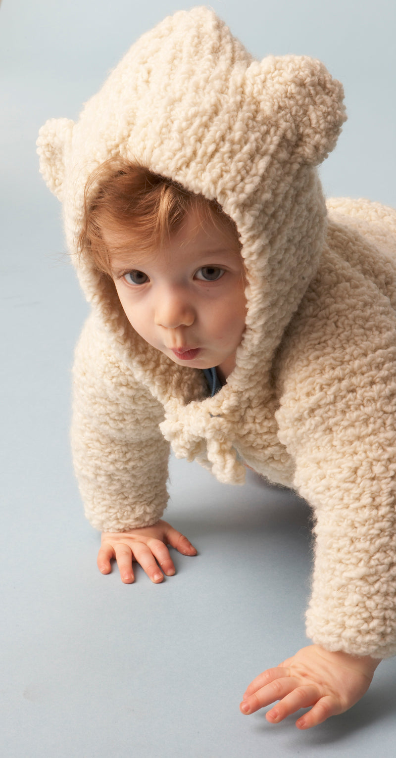 Baby Bear Hooded Jacket Pattern (Knit)