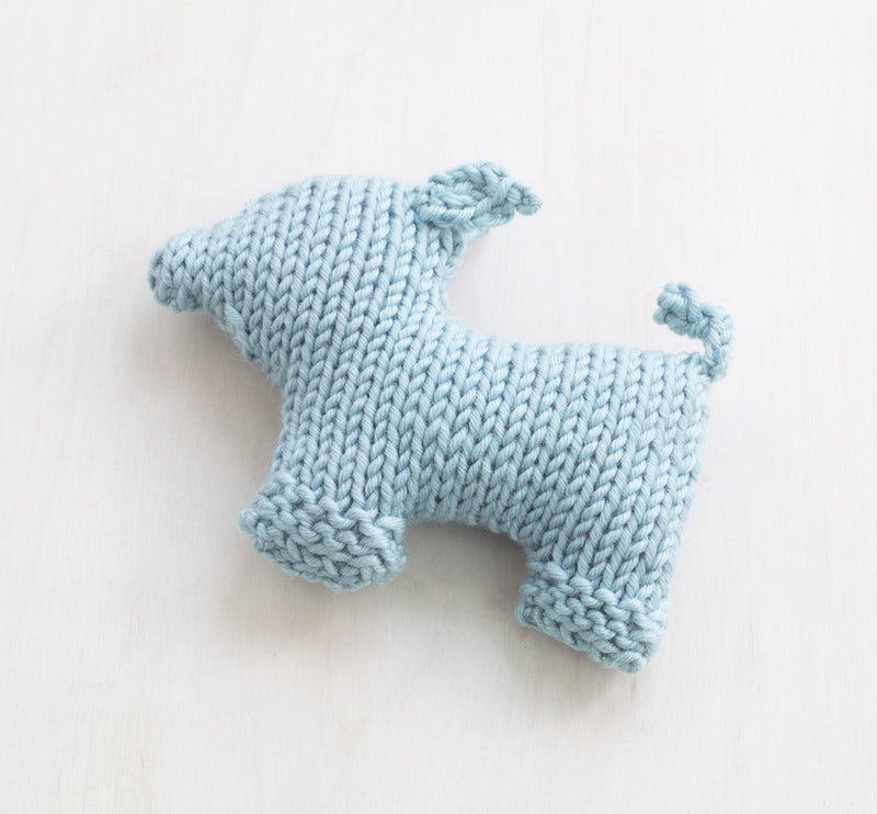 Baby Blue Pig Pattern (Knit)