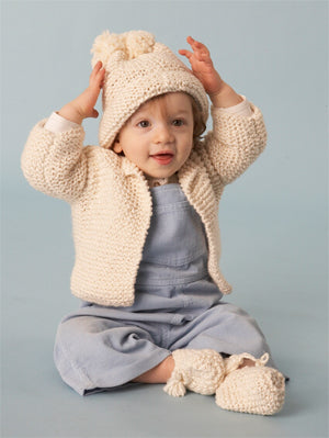 Baby Cardigan Oh Natural Pattern (Knit)