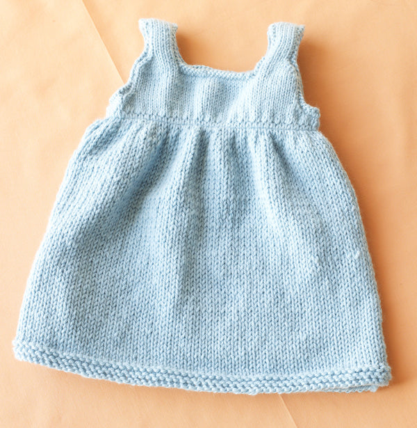 Baby Sweater Dress Pattern (Knit)