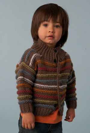 Boys Striped Cardigan Pattern (Knit)