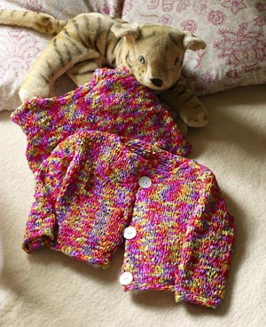 Bright Baby Cardigan Pattern (Knit)