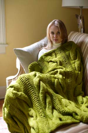 Cable Comfort Throw Pattern (Knit)