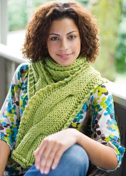Cable Panel Scarf Pattern (Knit)
