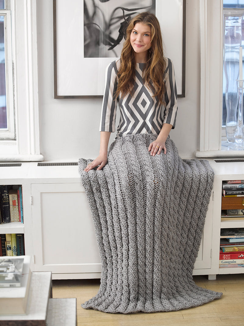Cabled Afghan (Knit)