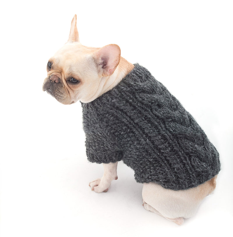 Cabled Dog Cardigan Pattern (Knit)
