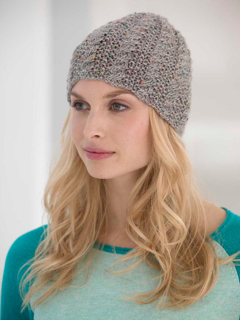 Cabled Tweed Hat Pattern (Knit)