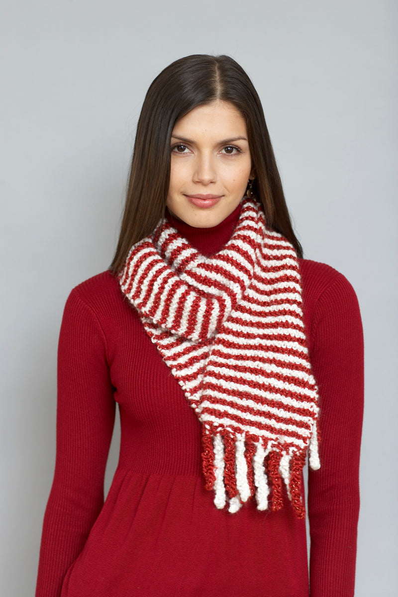 Candy Cane Scarf (Knit)