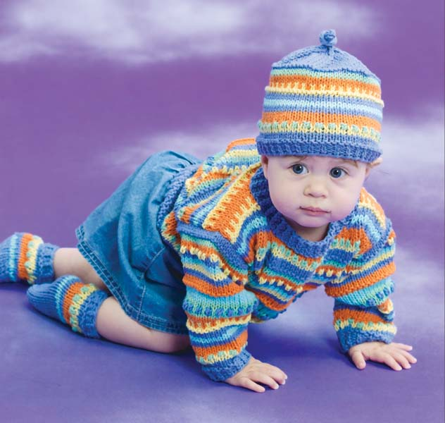 Candy Colored Baby Set Pattern (Knit)